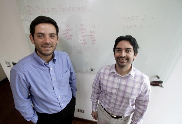Felipe Guzmán junto a su socio Alfredo Viera.